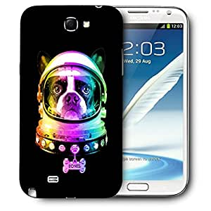 Snoogg Dog Astronaut Designer Protective Back Case Cover For SAMSUNG Galaxy Note 2 N7100