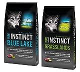 12kg Grasslands & 12kg Blue Lake Adult PURE INSTINCT Getreidefreies Hundefutter mit hohem Fleischanteil