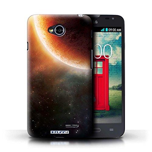 Kobalt® Imprimé Etui / Coque pour LG L70/D320 / Planète Pourpre conception / Série Cosmos Éclipse Orange