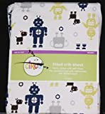 Circo Robots Fitted Crib Sheet toddler bed sheet new