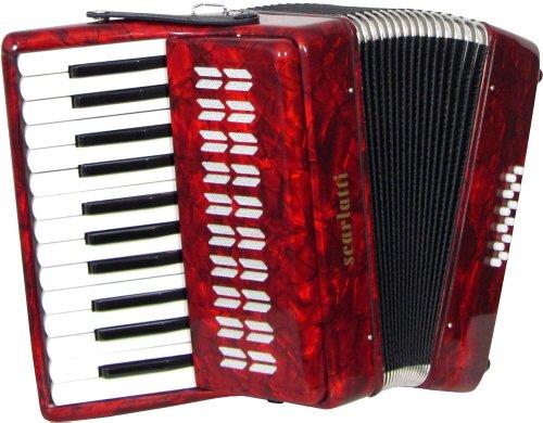 Scarlatti 12 Bass Akkordeon, Rot
