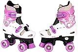 Patins à roulettes réglables pour enfant, pointures 282930313233343536, rollers disco, lilas, 29-32