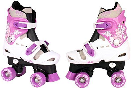 Kinder Rollschuhe verstellbar 28 29 30 31 32 33 34 35 36 NEU Disco Roller (Lila, 27-31)