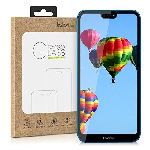 kalibri-Echtglas-Displayschutz-fr-Huawei-P20-Lite-3D-Schutzglas-Full-Cover-Screen-Protector-mit-Rahmen-Glas-Folie-auch-fr-gewlbtes-Display-in-Schwarz