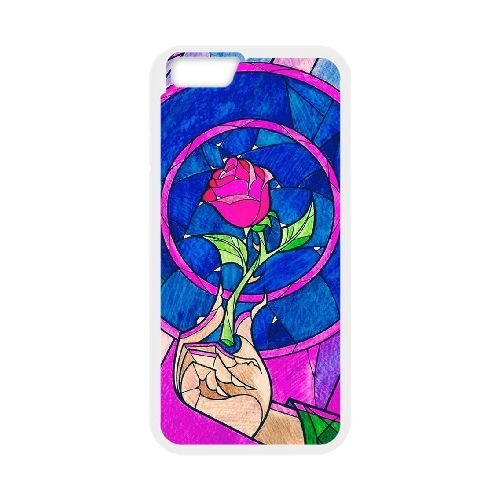 Personalized Durable Cases iPhone 6 4.7 Inch White Phone Case Ppyir Beauty and the Beast Protection Cover