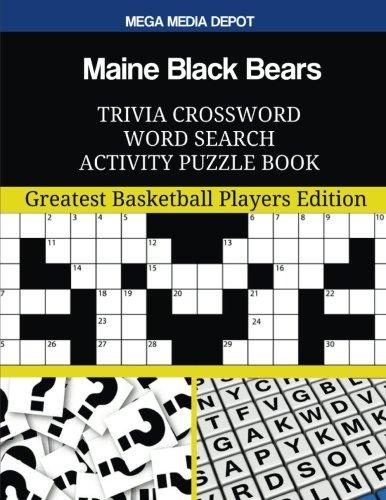Maine Black Bears Trivia Crossword Word Search Activity Puzzle Book por Mega Meda Depot