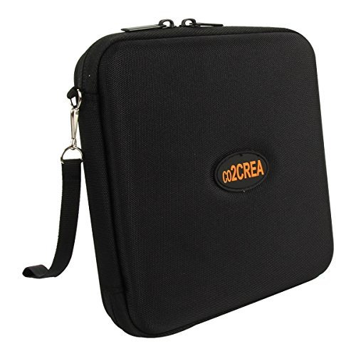 co2CREA Hard EVA Storage Carrying Travel Case Bag for External DVD, CD, Blu-ray Rewriter / Writer and Optical Drives Apple LG Dell  available at amazon for Rs.2028