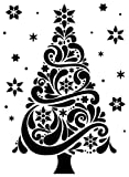 Darice Christmas Tree Embossing Template,  Transparent, 10.8 x 14.6 cm