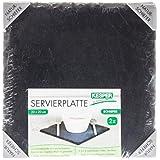 Kesper bandeja, 2 Pack, de pizarra, buffet-placa, pizarra, aceite, tamaño: 200 x 200 mm, negro