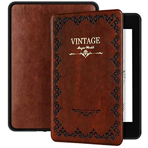 Ayotu Custodia Serie Magic Book per Kindle Paperwhite 2018 - Case Cover Custodia Amazon Nuovo Kindle Paperwhite (10ª Generazione - Modello 2018), K10 Retro Brown