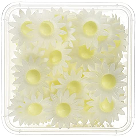Holly Cupcakes Beautiful 3D White Daisy Edible Cake Decorations (Pack