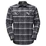 Jack Wolfskin - Camisa casual - para hombre gris Dark Iron Checks XL