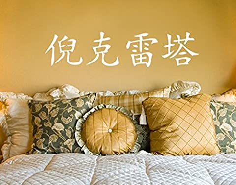 Wall Decal no.1021 Chinese Nicoletta, Colour:White;Dimensions:15cm x