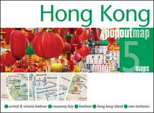 Hong Kong Popout Map - handy pocket size pop up map of Hong Kong (PopOut Maps)