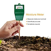 MoonCity Sensor de humedad del suelo medidor comprobador, agua del suelo monitor, planta de humedad probador higrómetro, ideal para el jardín, granja, césped, interior y exterior (no necesita batería)