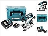 Makita DSS 610 RT1J 18 V Akku Handkreissäge im Makpac + BL 1850 5,0 Ah Akku + DC18RC Ladegerät