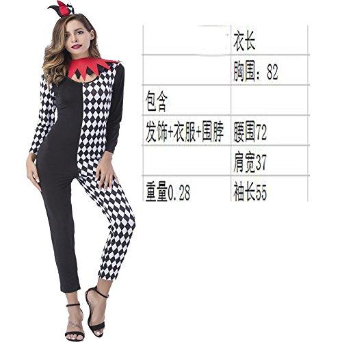 XiaoGao bühne, kostüm, Schwarze und weiße Clown - kostüm, Hosen, Rolle Spielen,XL