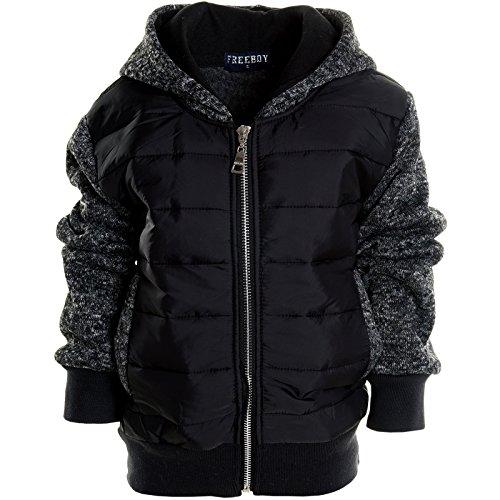 BEZLIT -  Felpa con cappuccio  - Camicia - Basic - Collo a U  - Maniche lunghe  - ragazzo nero 6 anni