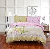 Sucastle,Bettwäsche Eine Vierköpfige Familie Fashion Bedding,Cotton,Bed Width:200cm