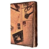 #8: Purpledip Handmade Journal (Vintage Diary) 'Love Letters': Fire Burnt Handmade Paper Notebook; Unique Gift For Personal Memoir (11116)