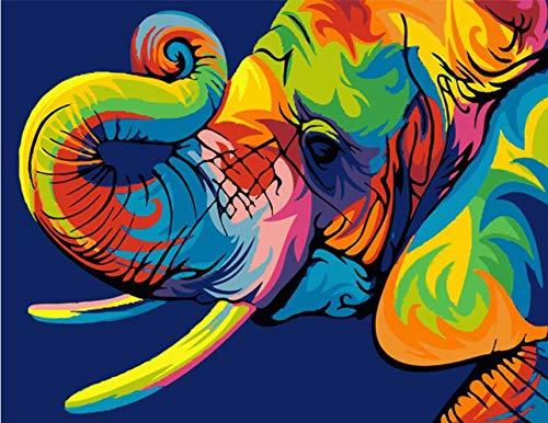 Puzzle 3D Puzzle 1000 Piezas Coloridos Elefantes Animales Diy Moderno Arte De...