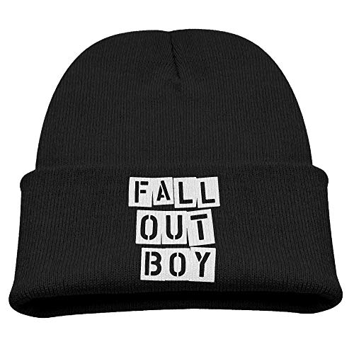LLALUA Kid's Beanie Hat Fall Out Boy American Beauty Official Skull Cap In 4 Colors Fall Out Boy-cap