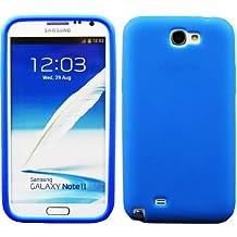 Carcasa Funda para Samsung Galaxy Note 2N7100–Diferente modelos disponibles: Simple silicona, diamante, Inner Scrub, TPU, funda rígida, piel sintética Simple - Bleu Foncé