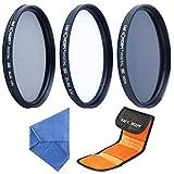 Filter Set 52mm K&F Concept® 52mm Objektiv Filterset,Slim UV CPL ND4 Filterset,UV Filterset 52mm,CPL Filterset 52mm,ND Filterset,Schutzfilter Graufilter ND Farbfilter Neutrale Dichte 5er Filter für Nikon D5300 D5200 D5100 D3300 D3200 D3100 DSLR Kamera mit Reinigungsstift und Filtertasche (77MM mit Tuch)