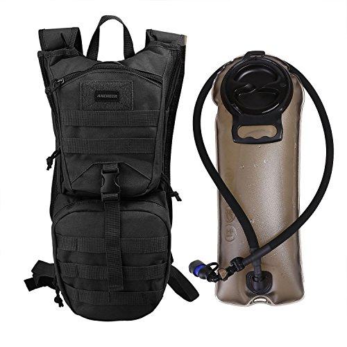 ANCHEER Trinkrucksack, Outdoor Hydration Rucksack 2.5l mit Trinkblase perfekt für Wandern Radfahren Joggen, Spazieren Klettern und Bergsteigen (Canvas-gürtel Schleife Tasche)
