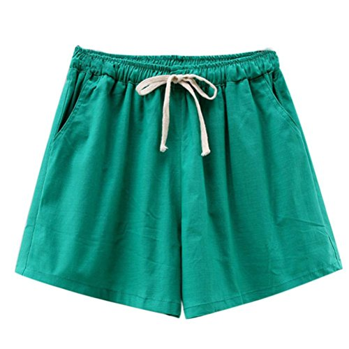 OSYARD Damen Kordelzug Hohe Taille Shorts Sommer Casual Strand Shorts Hosen, Badeshorts UV Schutz Schwimmen Bikinihose Wassersport Schwimmshorts Boardshorts