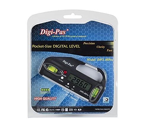 Digi-Pas DWL 80 Pro 0.05 Degree Mini Pocket-Size Digital Level/ Angle Gauge/ Protractor/ Inclinometer by Digi-Pas