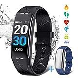 NASUM Braccialetto Sportivo, Smart Watch IP68 Braccialetto Intelligente Bluetooth Resistente all'Acqua con Cardiofrequenzimetro e Monitor del Sonno, Orologio con Contapassi e Calorie