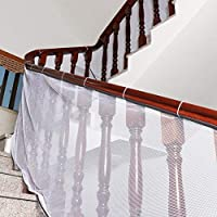 Hangnuo 3 Meters Baby Stair Railing Safety Net - Indoor Outdoor Balcony Guard for Toddler & Pet, Easy to Install