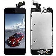 LCD Pantalla Táctil Reemplazo Completo de Pantalla con Botón de Inicio y Cámara de Alta Calidad Nuevo (Negro-Iphone 5)