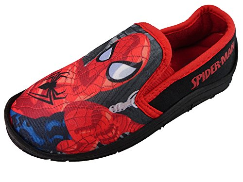 Spiderman, Pantofole bambini, nero (Black/Multi), 28,5 EU Bambino