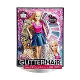 Barbie Glitzer-Haar Puppe - pink -