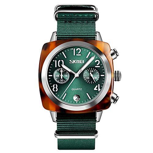 XQZ Armbanduhr männer,Sportuhren Herren,Nylon Herrenuhr Mode Quarz Sportuhren Wasserdichte Armbanduhr Männer 24 Stunden Herrenuhre