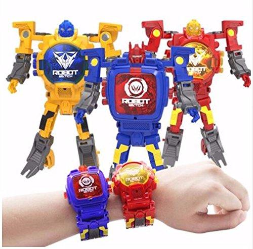 Unbekannt Transformer Roboter Uhr Blau
