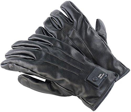 Callstel Touchscreen Handschuhe: Freisprech-Handschuhe, L, Bluetooth, Lederoptik, Vibrationsalarm, LED (Bluetooth-Handschuhe mit Mikrofone)