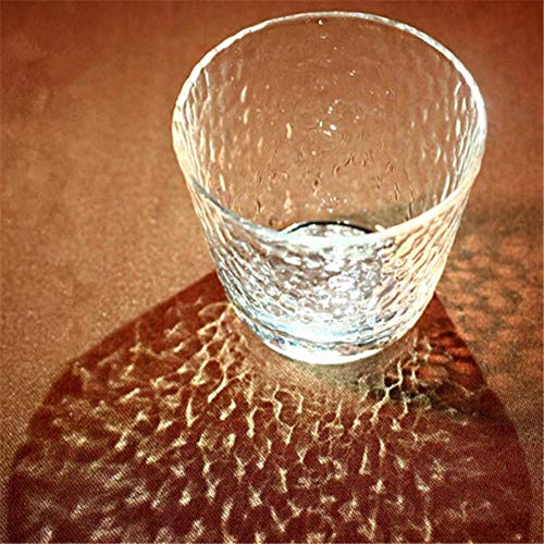 Erjialiu Handgemachte Art stammlose Glaswein Pilsner Bierkaffeetassen Roter Tee Funkelnder Becher Drinkware,Stil 1 Pilsner Becher-set