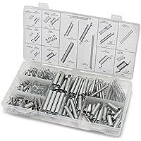 Aussel 200 Stück Spring Sortiment Erweiterung und Kompression Stahl Feder Tool Kit