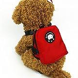 EMVANV Rucksack für Haustiere, Hunde, Welpen, Hundegeschirr mit Leine, Wandern, Camping, Outdoor