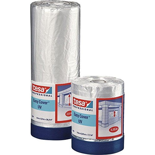 Preisvergleich Produktbild TESA Abdeckfolie Easy Cover® 4369 Transparent (L x B) 14 m x 550 mm Kautschuk Inhalt: 1 Rolle