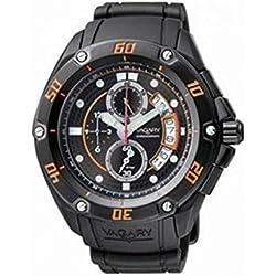 Vagary Watch By Citizen Quartz ia6-749-50(Rechargeable) quandrante Black Steel Strap CAUCCIU '