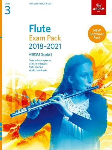 Flute Exam Pack 2018-2021, ABRSM Grade 3: Selected from the 2018-2021 syllabus. Score & Part, Audio Downloads, Scales & Sight-Reading (ABRSM Exam Pieces) por ABRSM