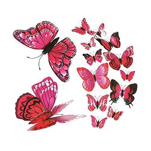 Dtuta 3D Butterfly Kombination WillküRliche Heimtextilien Moderne Kunst Wandtattoo Aufkleber Schmuck (Sticker Home 4 Für Ipod)