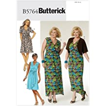 Butterick Patterns B5764 - Cartamodello per abito da donna con cintura e bolero, taglie dalla 50 alla 56, colore: Bianco (in lingua inglese)