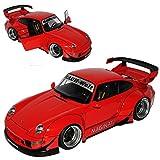 AUTOart Porsche 911 993 Carrera Coupe RWB Coupe Rot Rauh-Welt 1993-1998 78153 1/18 Modell Auto