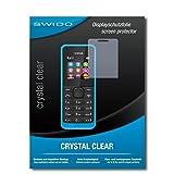 SWIDO Bildschirmschutz für Nokia New 105 Dual SIM [4 Stück] Kristall-Klar, Hoher Härtegrad, Schutz vor Öl, Staub & Kratzer/Schutzfolie, Bildschirmschutzfolie, Panzerglas Folie
