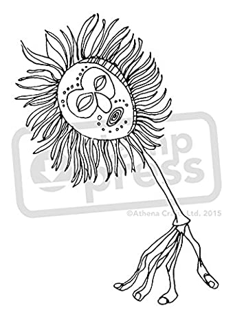A7 'Tribal Mask Arm' Unmounted Rubber Stamp